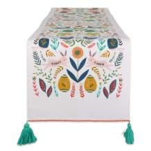 DII Flower Kitchen Textiles, Table Runner, 14x108, Easter Garden