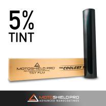 MotoShield Pro Premium 2mil Ceramic Window Tint for Auto - 60 Inches x 100 Feet (5%) [99% Infrared Heat Reduction/Blocks 99% UV] Window Film Roll