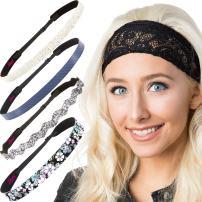 Hipsy Women's Adjustable Cute Fashion Headbands Hairband Gift Pack