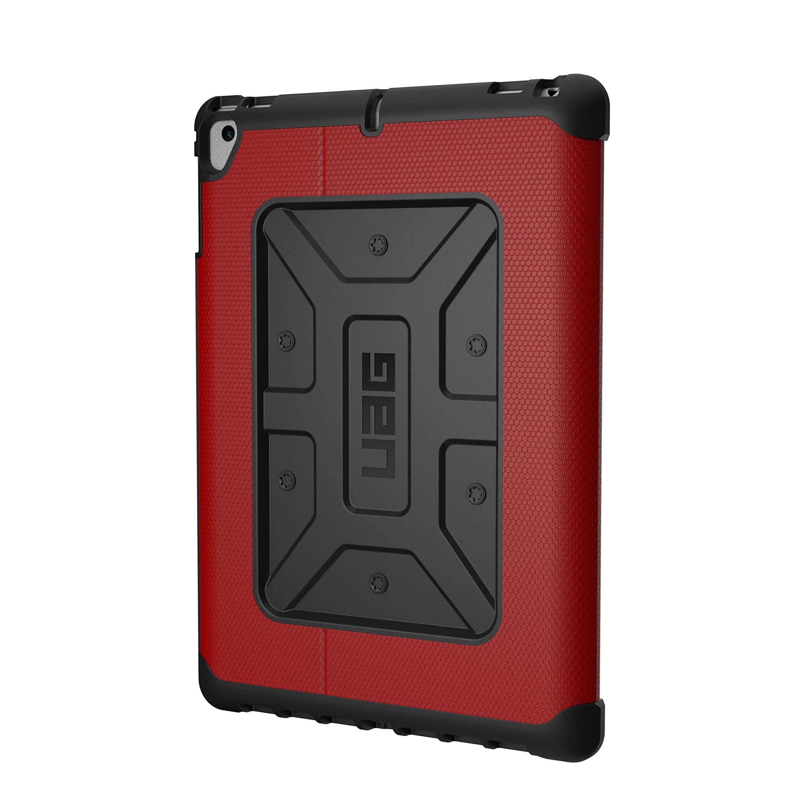 URBAN ARMOR GEAR UAG Folio iPad 9.7 (2017 5th Gen & 2018 6th Gen), iPad Pro 9.7, iPad Air 1/Air 2 Metropolis Feather-Light Rugged [Magma] Military Drop Tested iPad Case