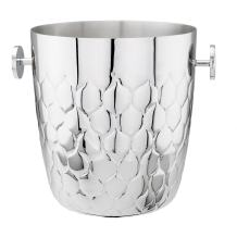 "Old Dutch ""Avante"" Embossed Stainless Steel Champagne Bucket, 5 Qt."