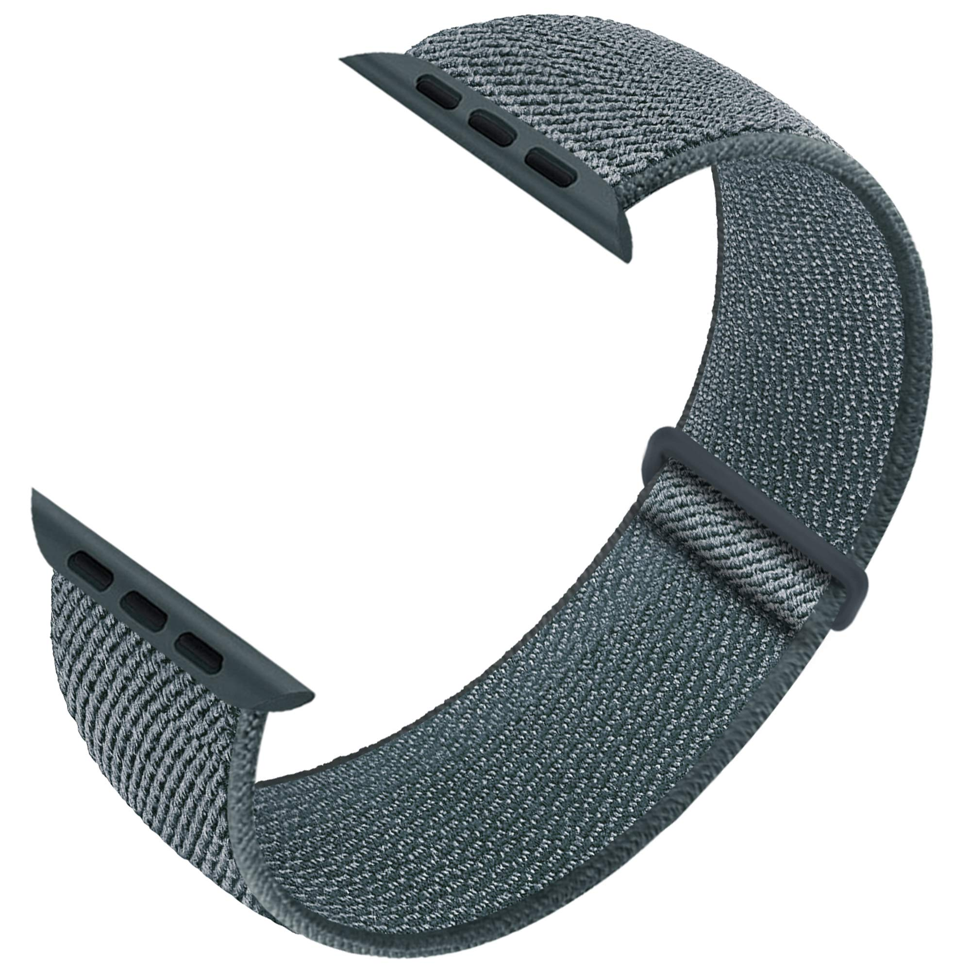 Sport Loop Band Compatible with Apple Watch Band 38mm 40mm 42mm 44mm iWatch Series 6 5 SE 4 3 2 1 Strap, Nylon Velcro Women Men Stretchy Elastic Braided Replacement Wristband Breath Soft Light