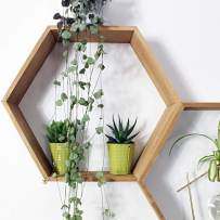 Hexagon Floating Honeycomb Shelves Pine Sets of 2 (Hexagon, Natural)