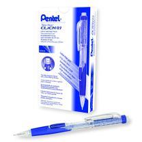 Pentel Twist Erase CLICK Mechanical Pencil, 0.9mm, Clear Barrel, Box of 12 (PD279TC-R1)