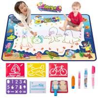 VENSEEN Aqua Magic Doodle Mat, Large Drawing Mat for Kids, Color Doodle Writing Mat Bring Magic Pens, Educational Toys for Age 3 4 5 6 7 8 9 10 11 12 Year Old Girls Boys Toddler Gift