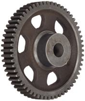 """Martin C1064 Spur Gear, 14.5° Pressure Angle, Cast Iron, Inch, 10 Pitch, 7/8"""" Bore, 6.6"""" OD, 1.000"""" Face Width, 64 Teeth"""