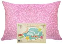 Little Sleepy Head Toddler Pillowcase - Cuddle Collection (alphabet Pink), 13 x 18 Inch