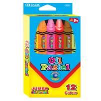 BAZIC 12 Color Jumbo Oil Pastel (Box of 24)