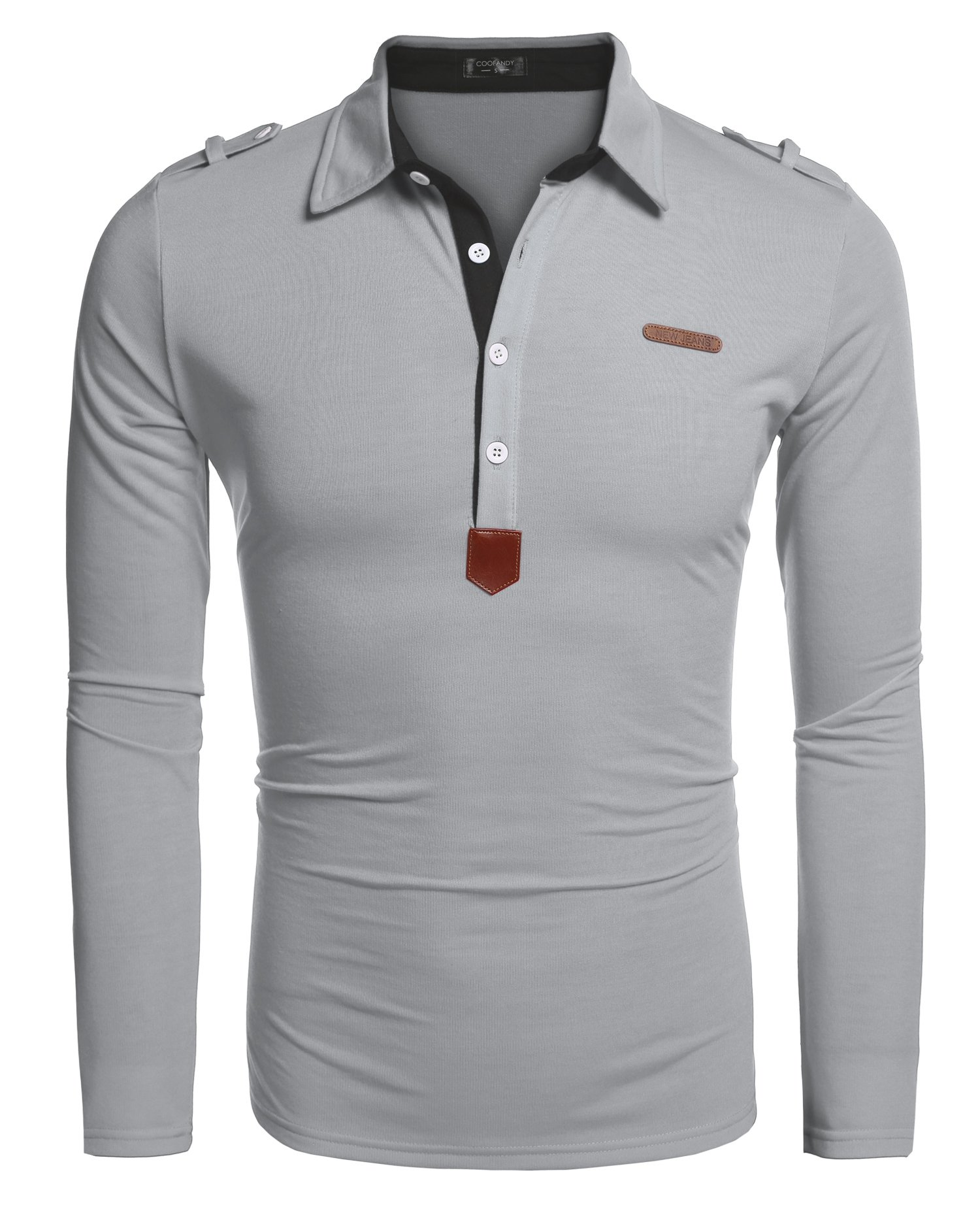 COOFANDY Men's Long Sleeve Polo Shirt Casual Slim Fit Classic Golf Polo T Shirts
