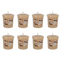 DII Highly Scented Candle Set, Votives S/8, Caramel Vanilla