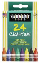 Sargent Art 35-0534 24-Count Regular Crayon Peggable,Assorted