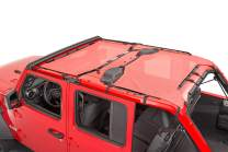 MasterTop 14201602 Red Freedom Mesh 2 Piece Bimini Plus Top for 2018-Current Jeep JL Wrangler
