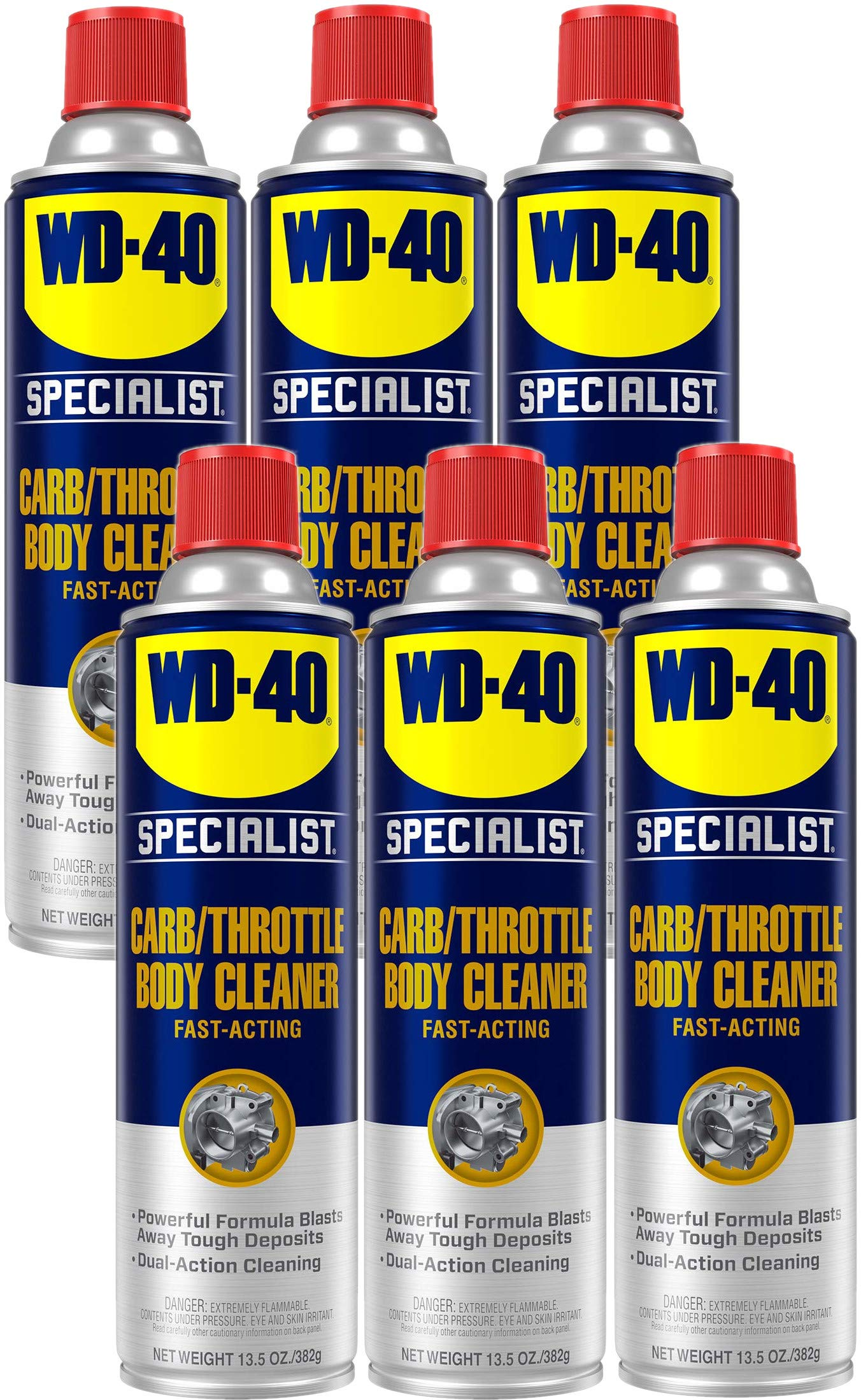 WD-40 Specialist Carb/Throttle Body & Parts Cleaner, 13.5 OZ [6-Pack]