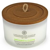 Chesapeake Bay Candle 3-Wick Scented Candle, Bergamot & Clover, Coffee Table Jar