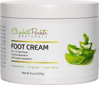 Foot Cream for Dry Cracked Feet and Heels - Anti Fungal Cream for Athletes Foot Treatment - Best Callus Remover for Feet with Shea Butter Aloe Vera & Coconut Oil - Fragrance Free & Non Greasy (8 oz)