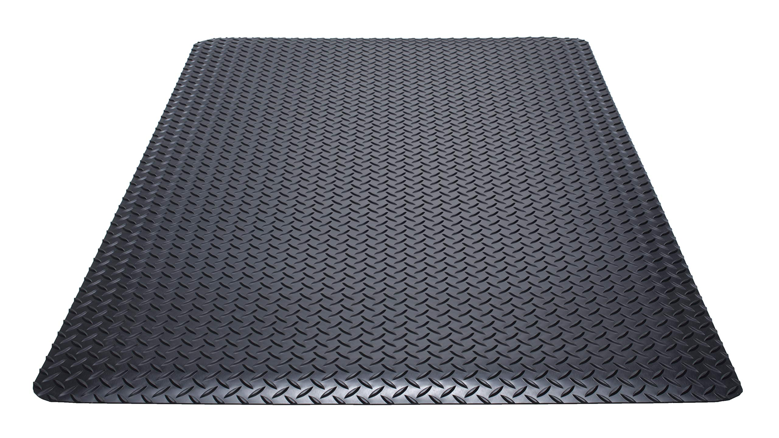 Guardian Safe Step Anti-Fatigue Floor Mat, Vinyl, 3'x12', Black