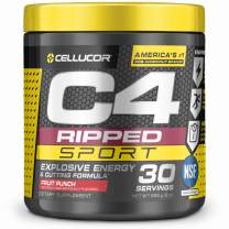 C4 Ripped Sport Pre Workout Powder Fruit Punch   NSF Certified for Sport + Sugar Free Preworkout Energy Supplement for Men & Women   135mg Caffeine + Weight Loss   30 Servings