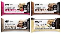 Optimum Nutrition High Protein Wafer Bars, Variety Sampler Pack, Includes 2 Chocolate Creme, 2 Mocha Creme, 2 Chocolate Raspberry Creme, 2 Vanilla Creme