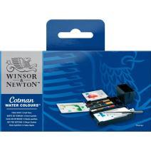 Winsor & Newton Cotman Water Colour Paint Field Box Set, Set of 12, Half Pans