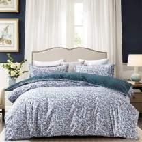 "JOHNPEY Duvet Cover King - 100% Cotton Bedding Set (1 Duvet Cover 104""x 90""+ 2 Pillow Shams 20"" x 36"")- Zipper Closure"