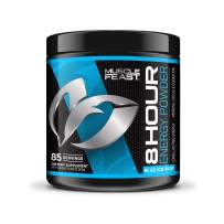 MUSCLE FEAST 8 HOUR ENERGY, Blue Ice Pop, Keto Friendly Preworkout and NO SUGAR, Focus and Mental Clarity, Increase Metabolism, 85 Servings