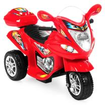 Best Choice Products Kids Ride On Motorcycle 6V Toy Battery Powered Electric 3 Wheel Power Bicyle, Red