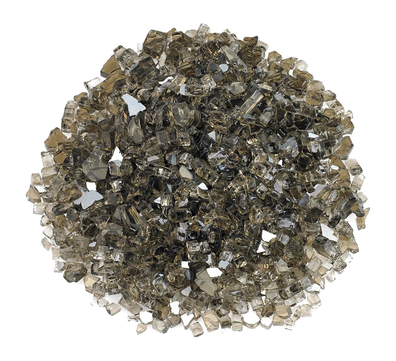 "American Fireglass 1/4"" Bronze Reflective Fire Glass, 20 lb. Bag"