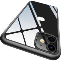 CASEKOO Crystal Clear Compatible with iPhone 11 Case, [Anti-Yellowing] Shockproof Protective Hybrid Phone Cases Slim Fit Cover for iPhone 11 (6.1 inch) 2019 - Matte Black