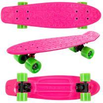 """Flybar 22"""" Skateboard for Kids, Beginners - Plastic Cruiser Non-Slip Deck Multiple Colors for Boys and Girls"""