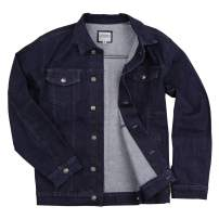Mens Stretch Fit Blue Jean Denim Jacket