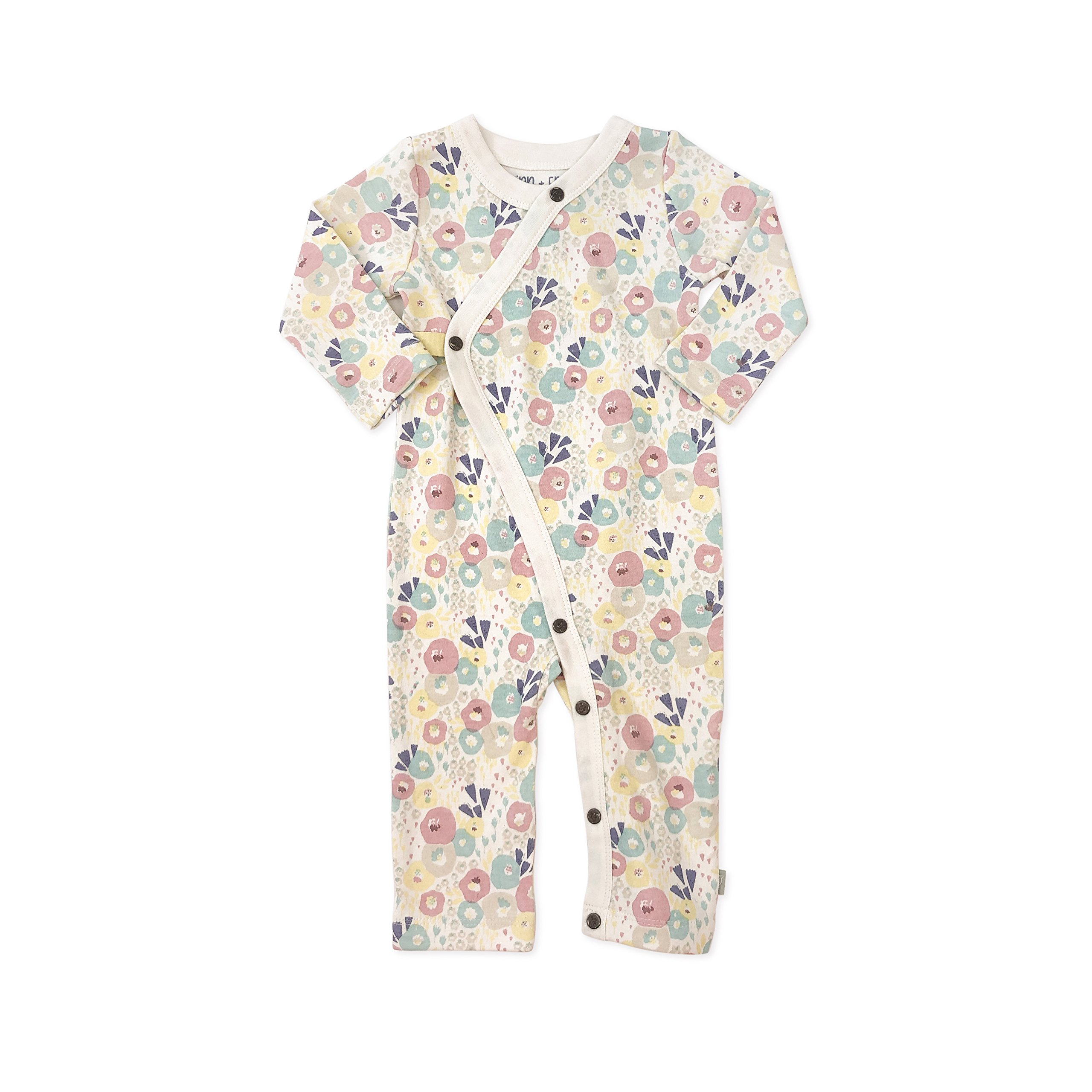 Finn + Emma Organic Cotton One-Piece Baby Coverall - Wildflowers, 6-9 Months