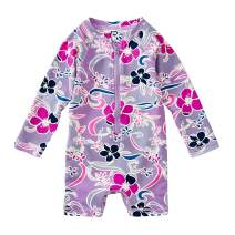 Tea Collection Shortie Rash Guard Swimwear, Baby Girls, Batik Floral
