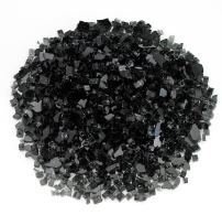 "American Fireglass 1/4"" Black Fire Glass, 20 lb. Bag"
