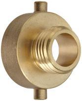 "Moon 369-1521021 Brass Fire Hose Adapter, Pin Lug, 1-1/2"" NH Female x 1"" NH Male"