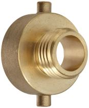 "Moon 369-1521021 Brass Fire Hose Adapter, Pin Lug, 1-1/2"" NH Female x 1"" NH Male"