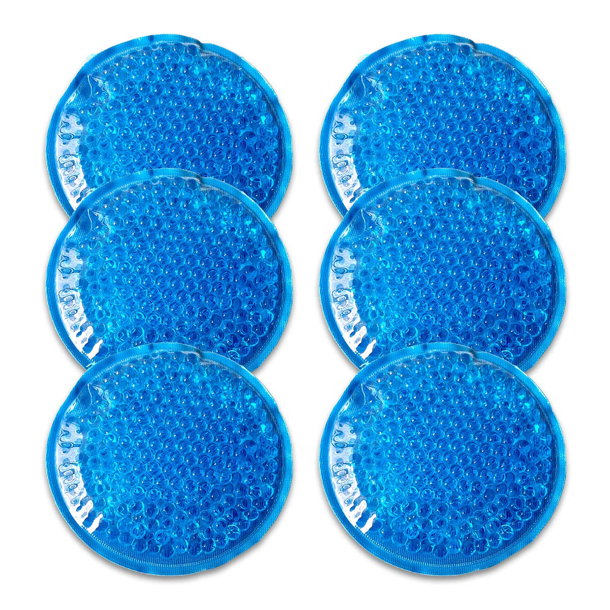 Reusable Gel Beads Ice Pack(6packs)-Small ice packs Hot & Cold Compress,Cold Pack formuscle pain relief,knee pain,headache, Caries Pain,etc.Use Microwave Hotor Freezer Cold.