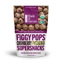 Made In Nature Organic Cranberry Pistachio Figgy Pops, 20oz - Non-GMO Unbaked Protein Balls
