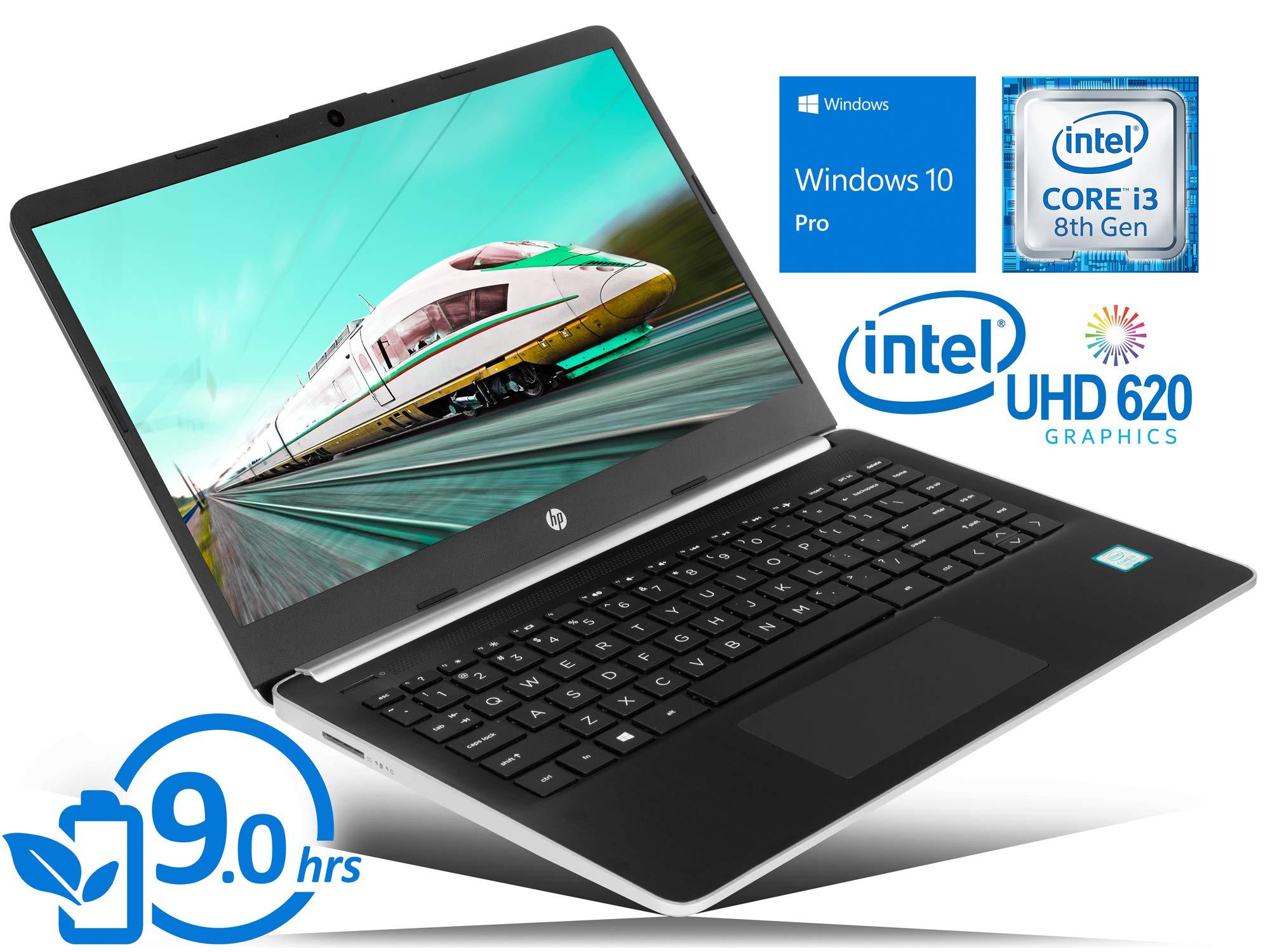 "HP 14 Laptop, 14"" HD Display, Intel Core i5-1035G1 Upto 3.6GHz, 16GB RAM, 256GB NVMe SSD, HDMI, Card Reader, Wi-Fi, Bluetooth, Windows 10 Pro"
