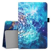 BENTOBEN Fire 7 Tablet Case (Compatible with 7th and 9th Generation Tablets, 2017 and 2019 Releases), Mandala in Galaxy Design