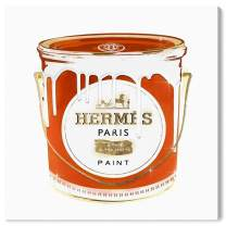 """The Oliver Gal Artist Co. Fashion and Glam Wall Art Canvas Prints 'French Luxe Paint' Home Décor, 24"""" x 24"""", Orange, White"""
