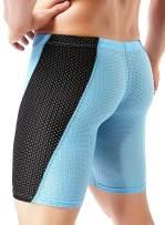 MIZOK Men's Workout Compression Shorts Quick Dry Yoga Fitness Training Trunks Gym Mesh Tight Training Shorts