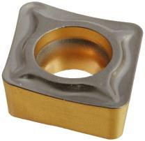 Sandvik Coromant, CCMT 2(1.5)2-UM 4315, CoroTurn 107 Insert for Turning, Carbide, Diamond 80°, Neutral Cut, 4315 Grade, Ti(C,N)+Al2O3+TiN, Inveio Coating Technology (Pack of 10)