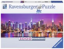 Ravensburger Manhattan Lights Panorama 1000 Piece Jigsaw Puzzle for Adults – Every Piece is Unique, Softclick Technology Means Pieces Fit Together Perfectly