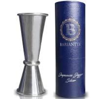 Bariantte Cocktail Measuring Jigger for Bartending Stainless Steel Double Jigger Liquor Shot Measure Cup Professional Japanese Jigger 2 oz 1 oz