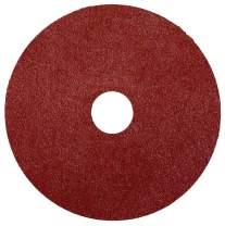"""Weiler 59507 Wolverine Aluminum Oxide Resin Fiber Sanding & Grinding Disc, 5"""" Diameter, 80 Grit, 7/8"""" Arbor Hole, (Pack of 25)"""