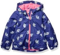 Osh Kosh Baby Girls Midweight Jacket with Fleece Lining, Hearts On Lilac, 18Mo