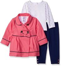 Little Me Baby Girls' 3 Piece Jacket and Pants Set