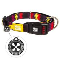 Max & Molly Ultra Comfortable Padded Neoprene Sport Dog Collar with Smart ID Tag, Donuts XS