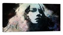 LightFairy Glow in The Dark Canvas Painting - Stretched and Framed Giclee Wall Art Print - Like Oil Painting Girl in Shadow - Master Bedroom Living Room Decor - 6 Hours Glow - 32 x 16 inch