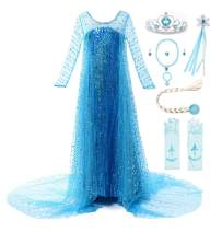 JerrisApparel Girls Princess Costume Birthday Party Halloween Cosplay Dress up